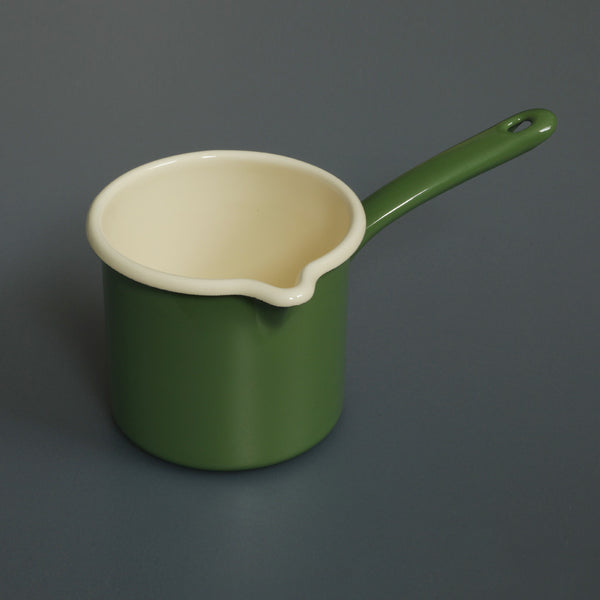 Enamel Milk Pot Green