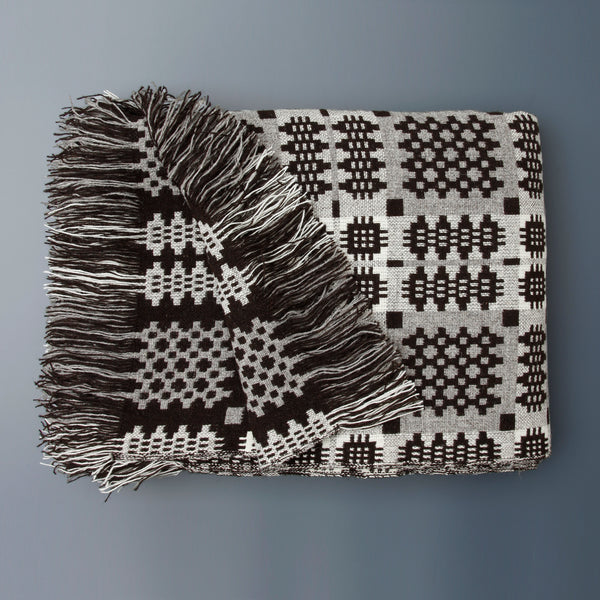 Welsh Tapestry Blanket Dark Brown