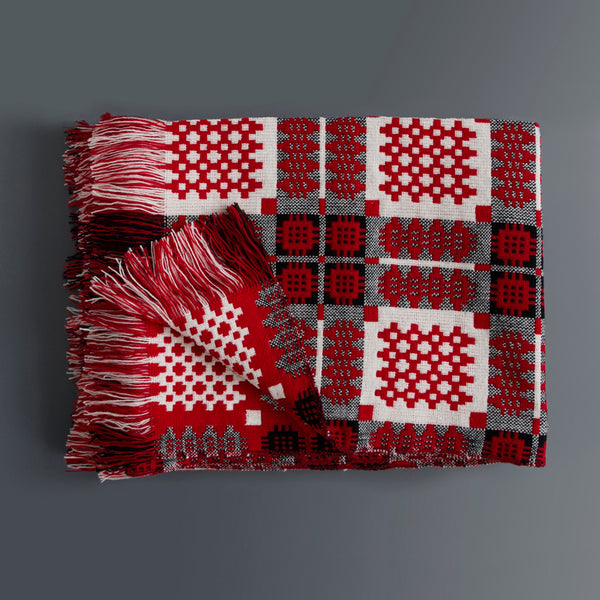 Welsh Tapestry Blanket Red