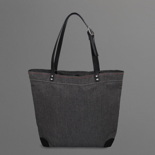 Large Canvas Tote Bag Black