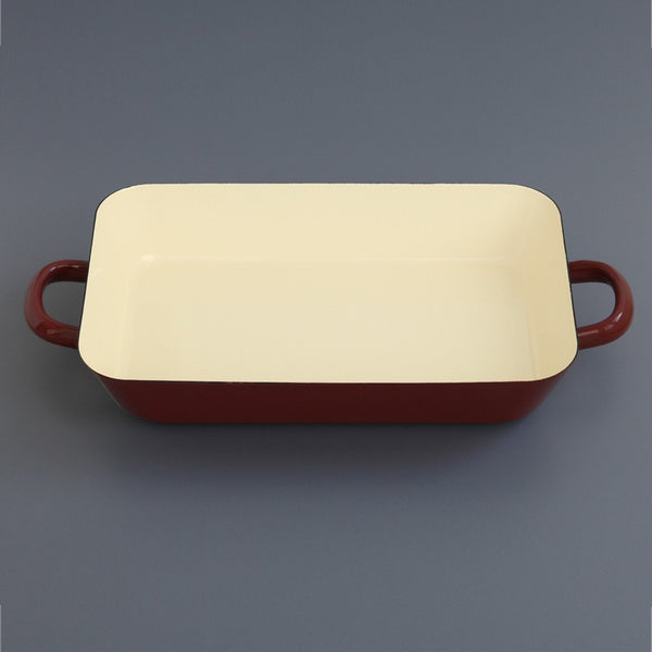 Enamel Roasting Dish Brown