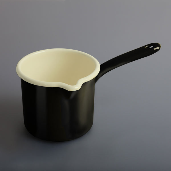 Enamel Milk Pot Black
