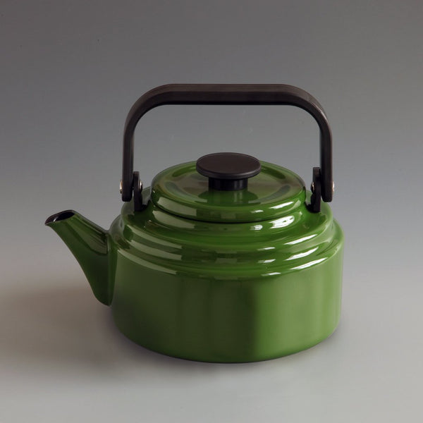 Japanese Enamel Kettle Green