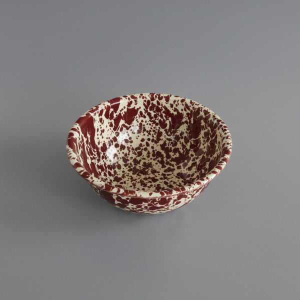 Marbled Enamel Bowl Burgundy