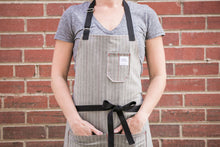 Load image into Gallery viewer, Gray Herringbone Apron