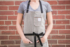 Gray Herringbone Apron