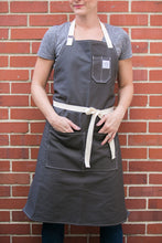 Load image into Gallery viewer, Gray Canvas Apron