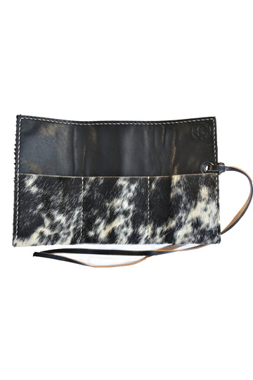 Montana Cowhide Travel Watch Roll