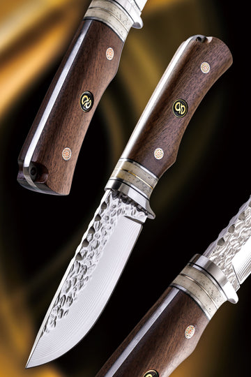 Salisbury Fixed-Blade Hunting Knife - Walnut Handle
