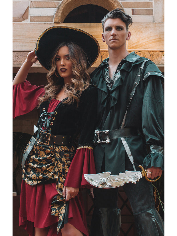 Plundering Pirate Mens Fancy Dress Pirate Costume - Shop Fortune Costumes Lingerie