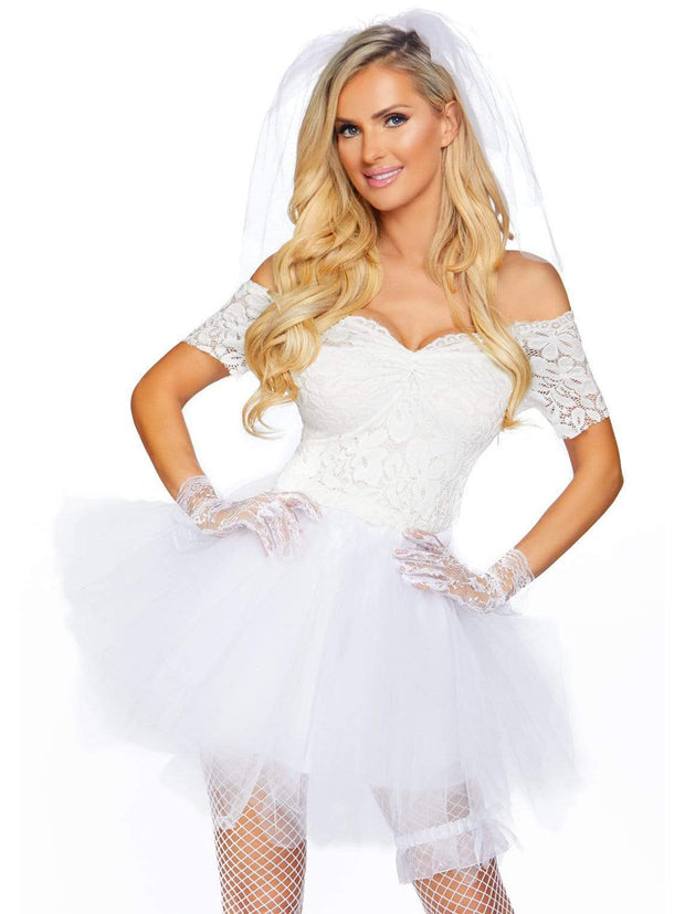 Tiffany Blushing Bride of Chucky Womens Sexy White Wedding Costume