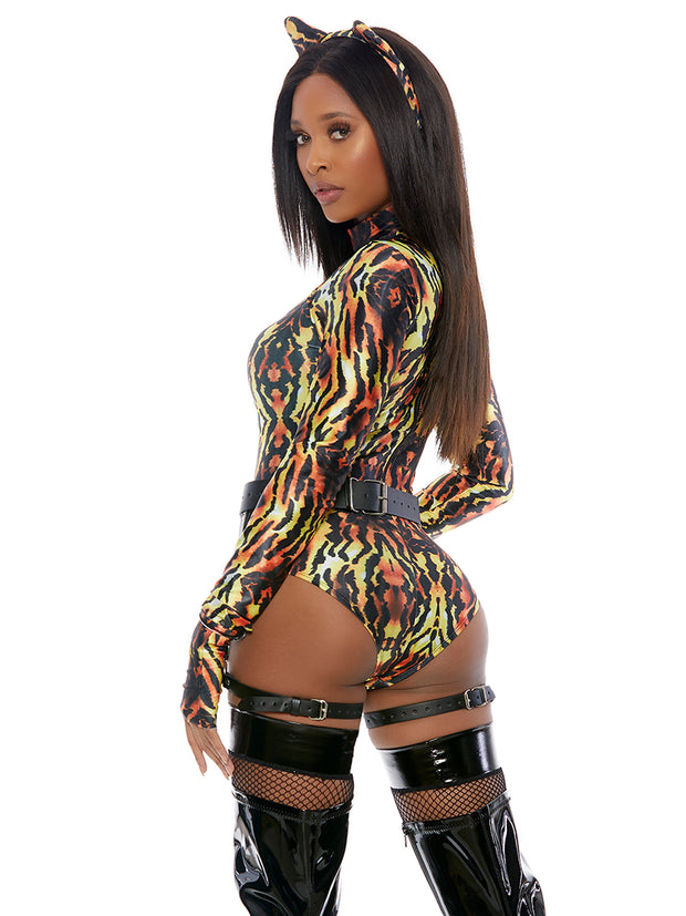 Meow Womens Sexy Tiger King Cat Costume