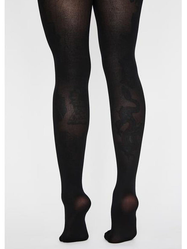 Womens Halloween Skeleton Print Bone Tights - Costumes & Lingerie Australia