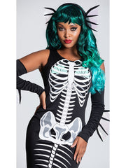 Womens Skeleton Siren Evil Mermaid Halloween Costume