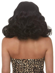 Rockabilly Retro Bang Curly Bob Wig Black