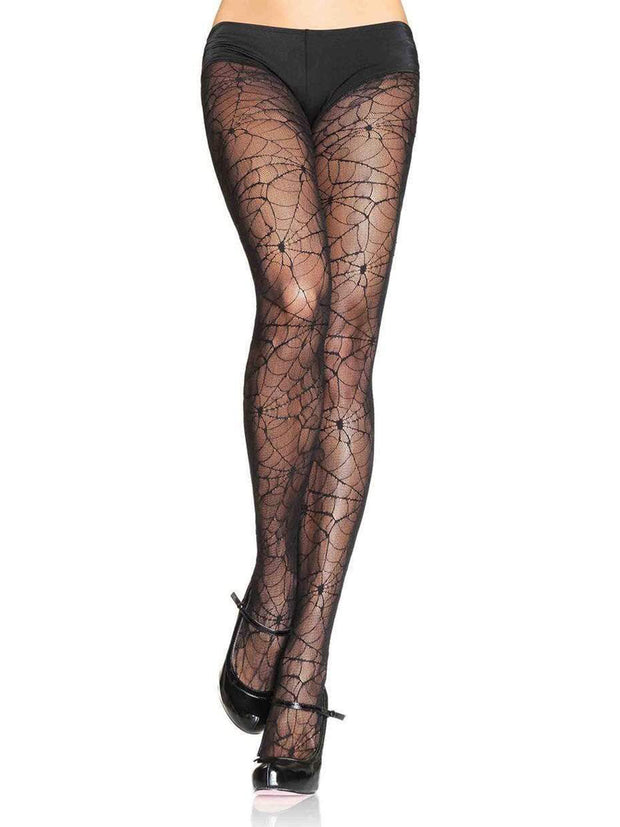 Womens Halloween Spider Lace Pantyhose - Costumes & Lingerie Australia