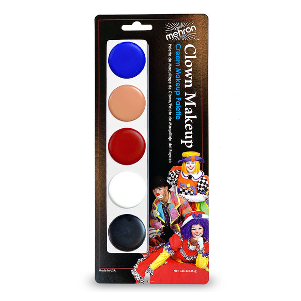 Mehron Clown 5 Colour Make Up Palette - Costumes & Lingerie Australia