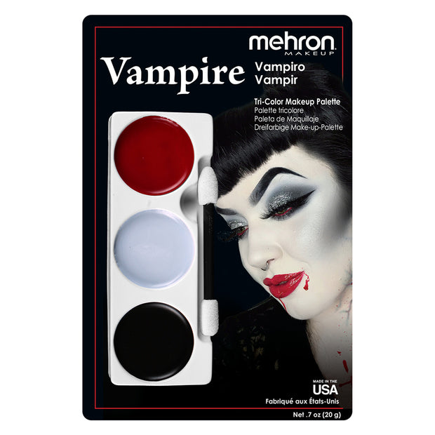 Mehron Vampire Tri Colour Make Up Palette - Costumes & Lingerie Australia