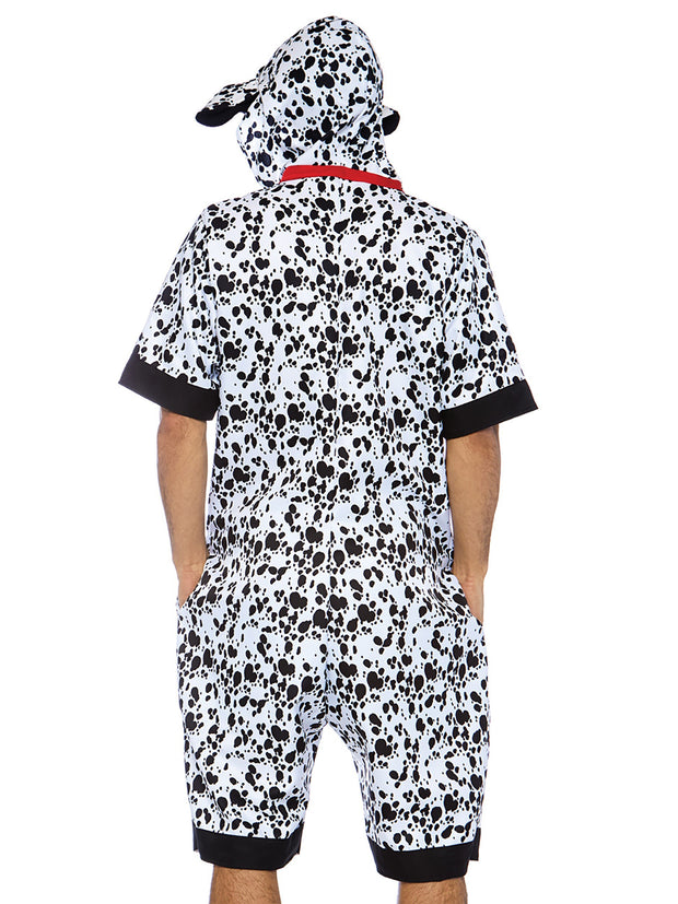 Dalmatian Dog Animal Onesie Mens Costume - Shop Fortune Costumes Lingerie