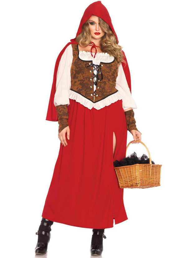 Plus Size Classic Red Riding Hood Womens Costume - Shop Fortune Costumes Lingerie
