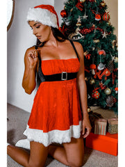 Naughty But Nice-ish Womens Sexy Santa Costume Dress