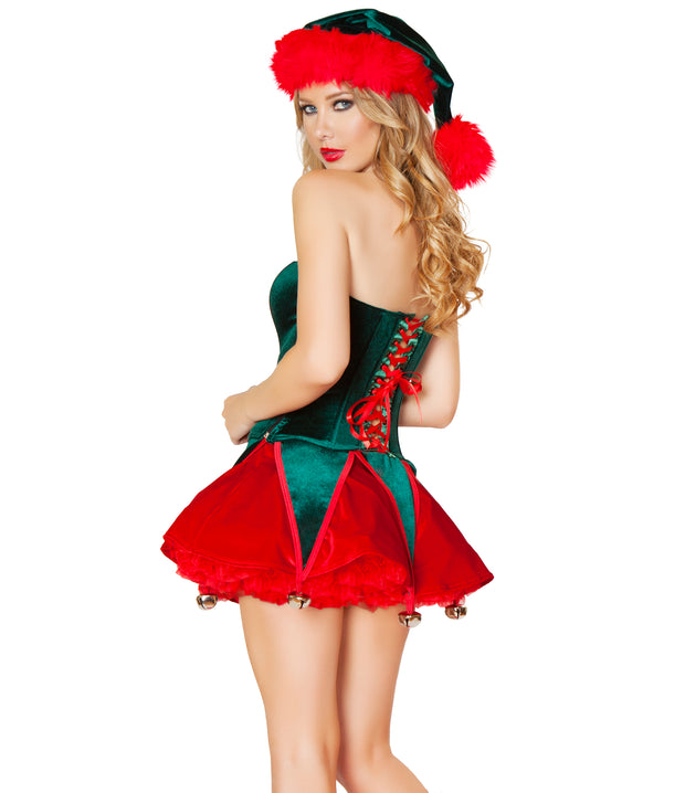 2 Piece Naughty Elf Womens Sexy Christmas Costume - Costumes & Lingerie Australia