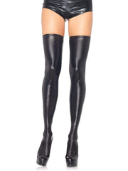 Womens Wet Look Shiny Thigh High Stockings - Costumes & Lingerie Australia