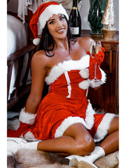 Santas Sugar Baby Red Velvet Strapless Santa Costume Dress