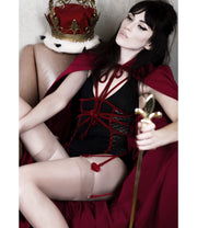Queen of Hearts Sweetheart Chemise Slip Role-Play Lingerie Set - Costumes & Lingerie Australia