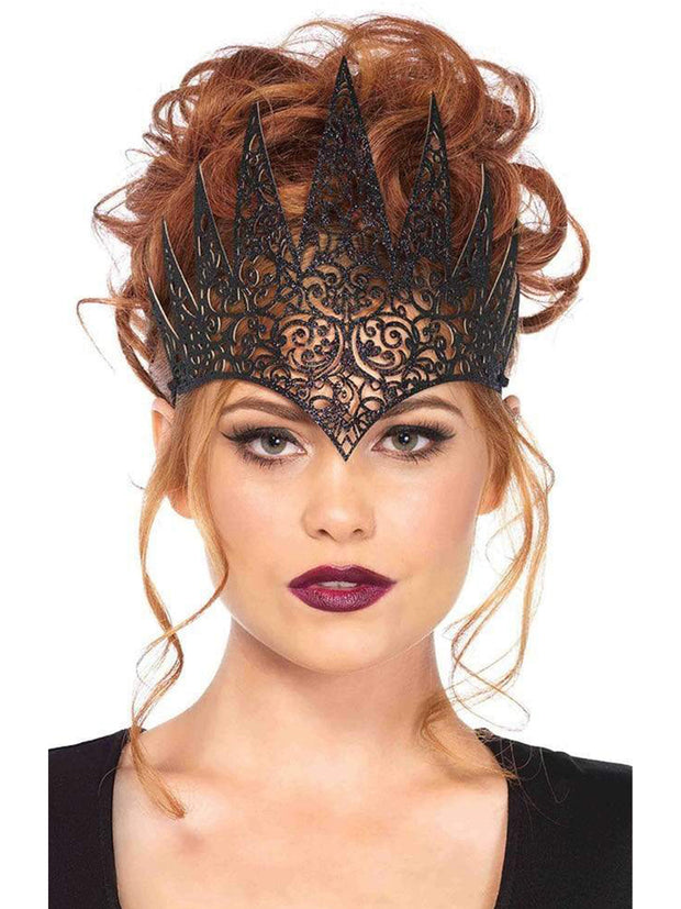 Royal Crown Diecut Black Costume Accessory - Shop Fortune Costumes Lingerie