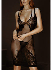 Take Me Now Fishnet & Lace Bodystocking Dress - Costumes & Lingerie Australia