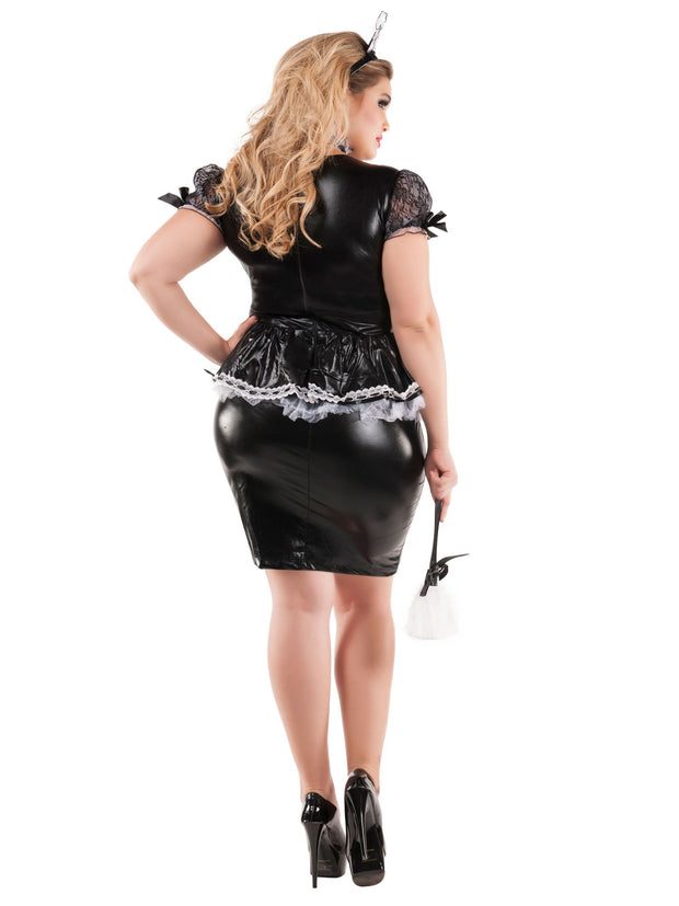 Womens Plus Size Sexy Mistress French Maid Costume - Shop Fortune Costumes Lingerie