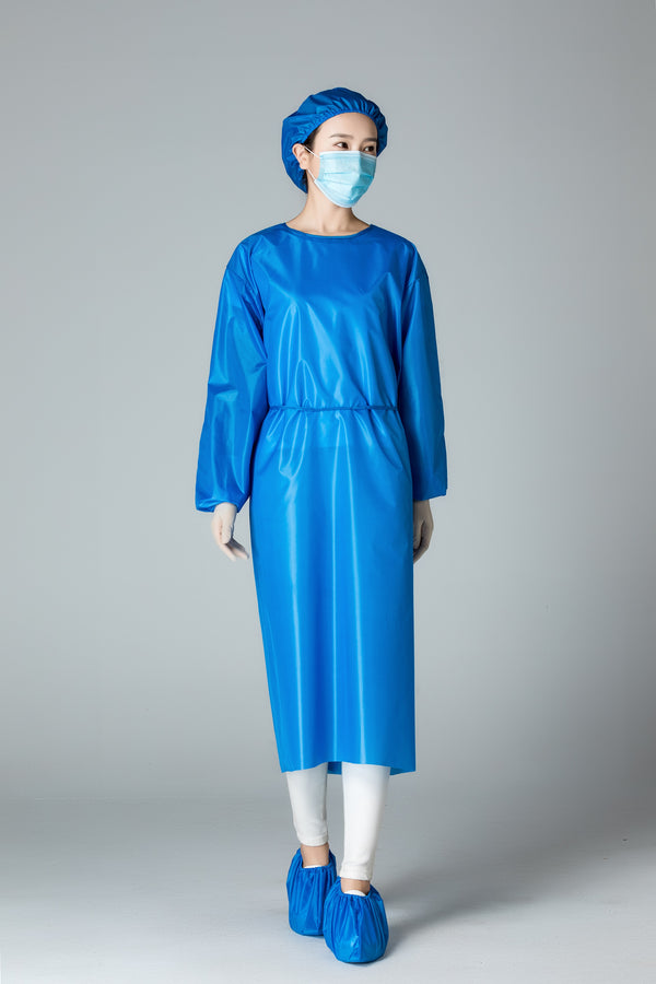 Reusable Isolation Gowns in BLUE AAMI Level 2  - Box of 10pcs, 60pcs and 600pcs
