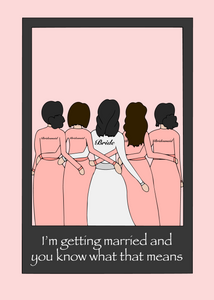 To my bridesmaids
