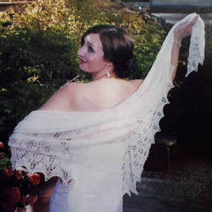 Lacy Wedding Ring Shawl