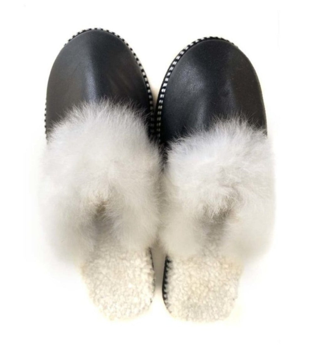 Luxury Alpaca Fur Slides