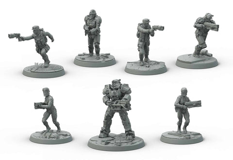 Fallout: Brotherhood of Steel Miniatures Sets