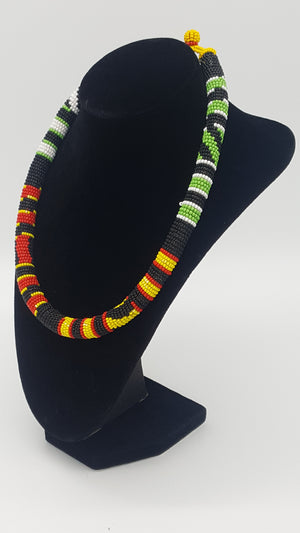 Zulu traditional beaded choker