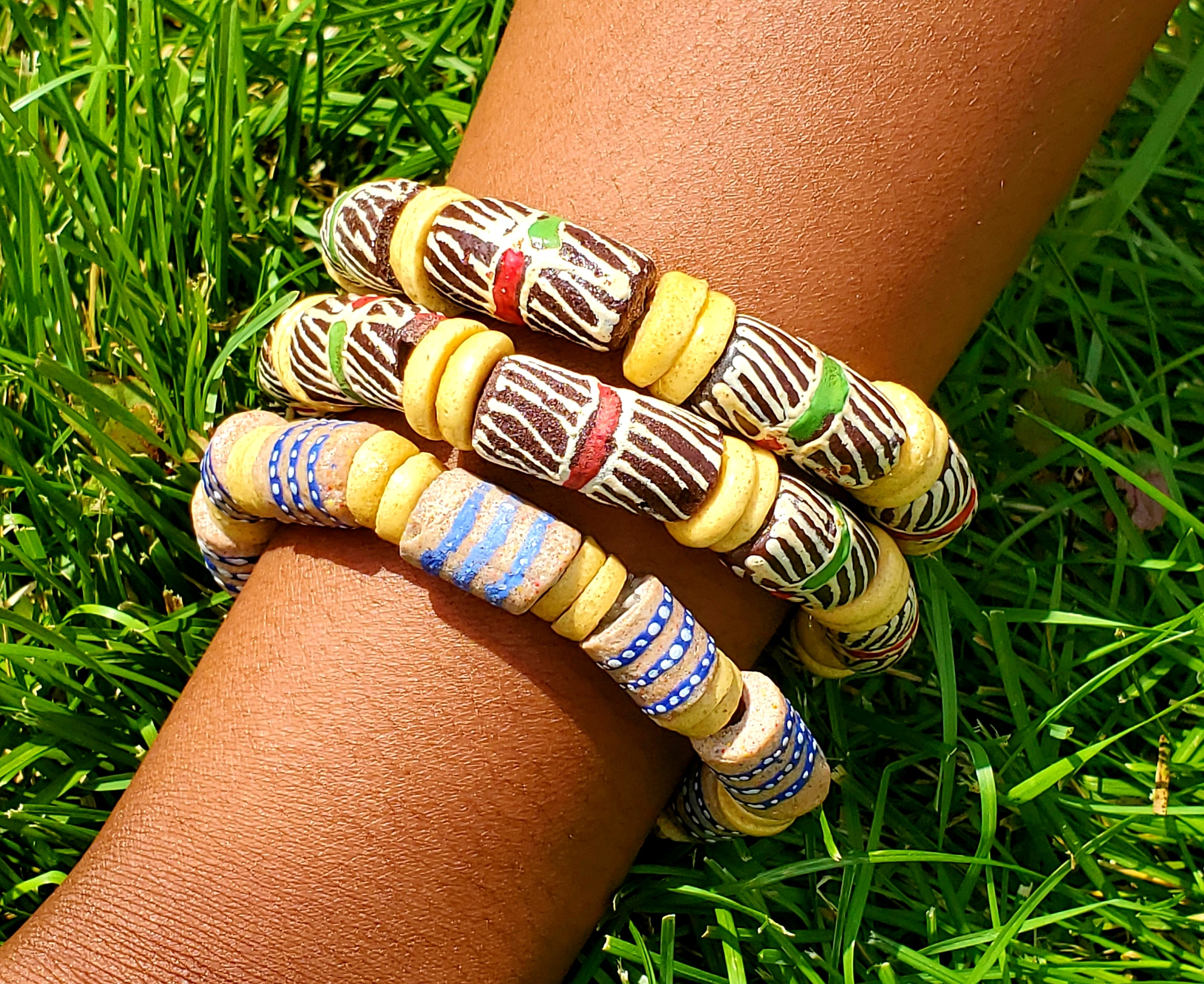 Ghanaian Glass Beaded Bracelets