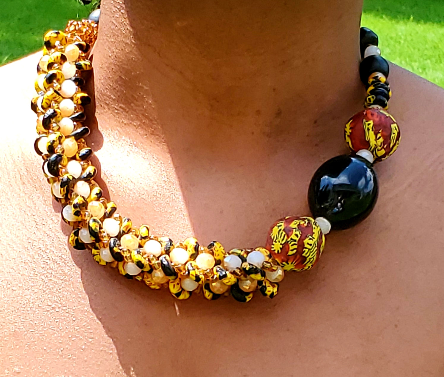 Ghanaian Glass Beaded Necklace