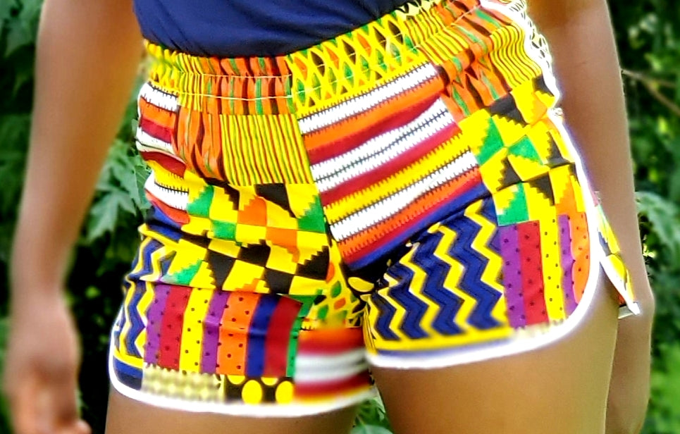 Ankara Wax Print Shorts
