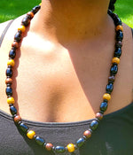 Traditional wooden beaded necklace