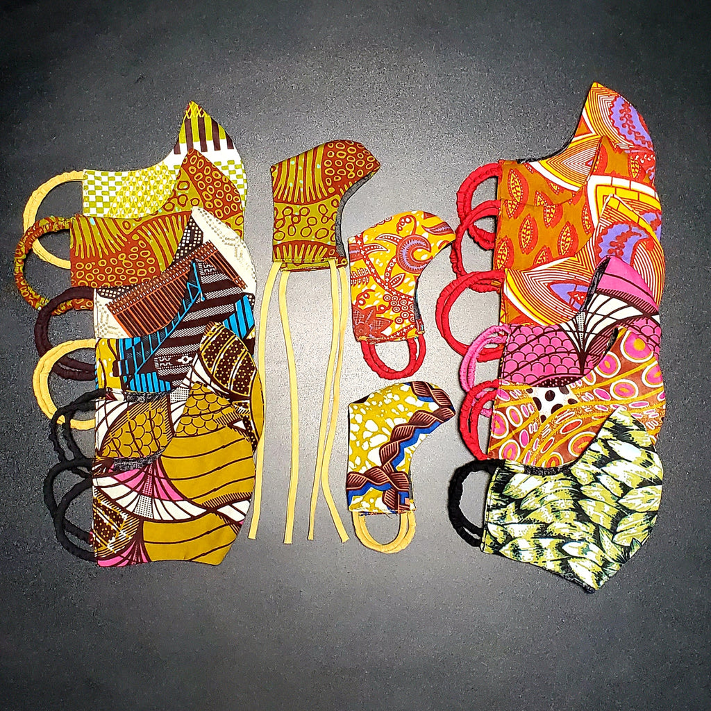 Reversible Ankara Fashioned Masks