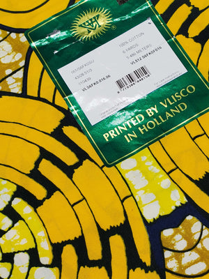 Vlisco Holland Fabric 6yds