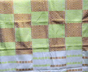 Multi-colored Traditional Kente (Lime, White, Gold)(3pcs)