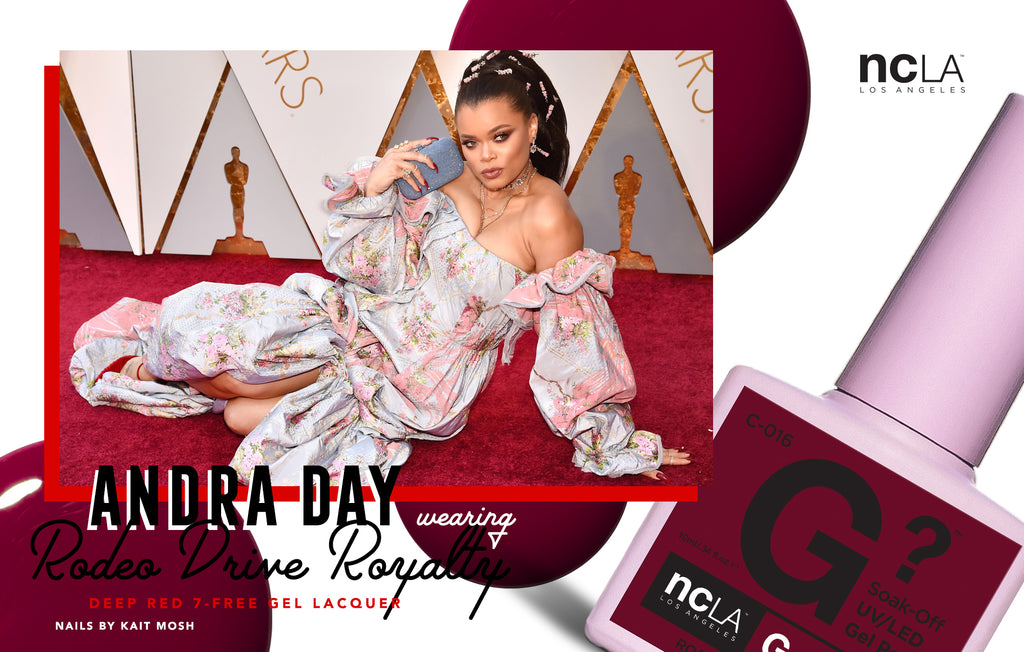 Andra Day in NCLA at the 2018 Oscars...Twice!