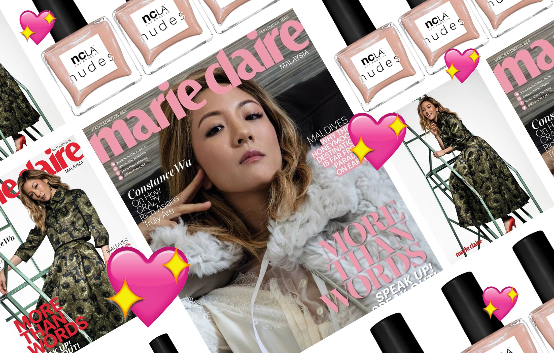 Constance Wu in NCLA on the cover of Marie Claire Malaysia!!