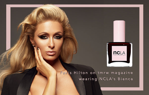 Paris Hilton wears NCLA Nail Lacquer in Bianca!