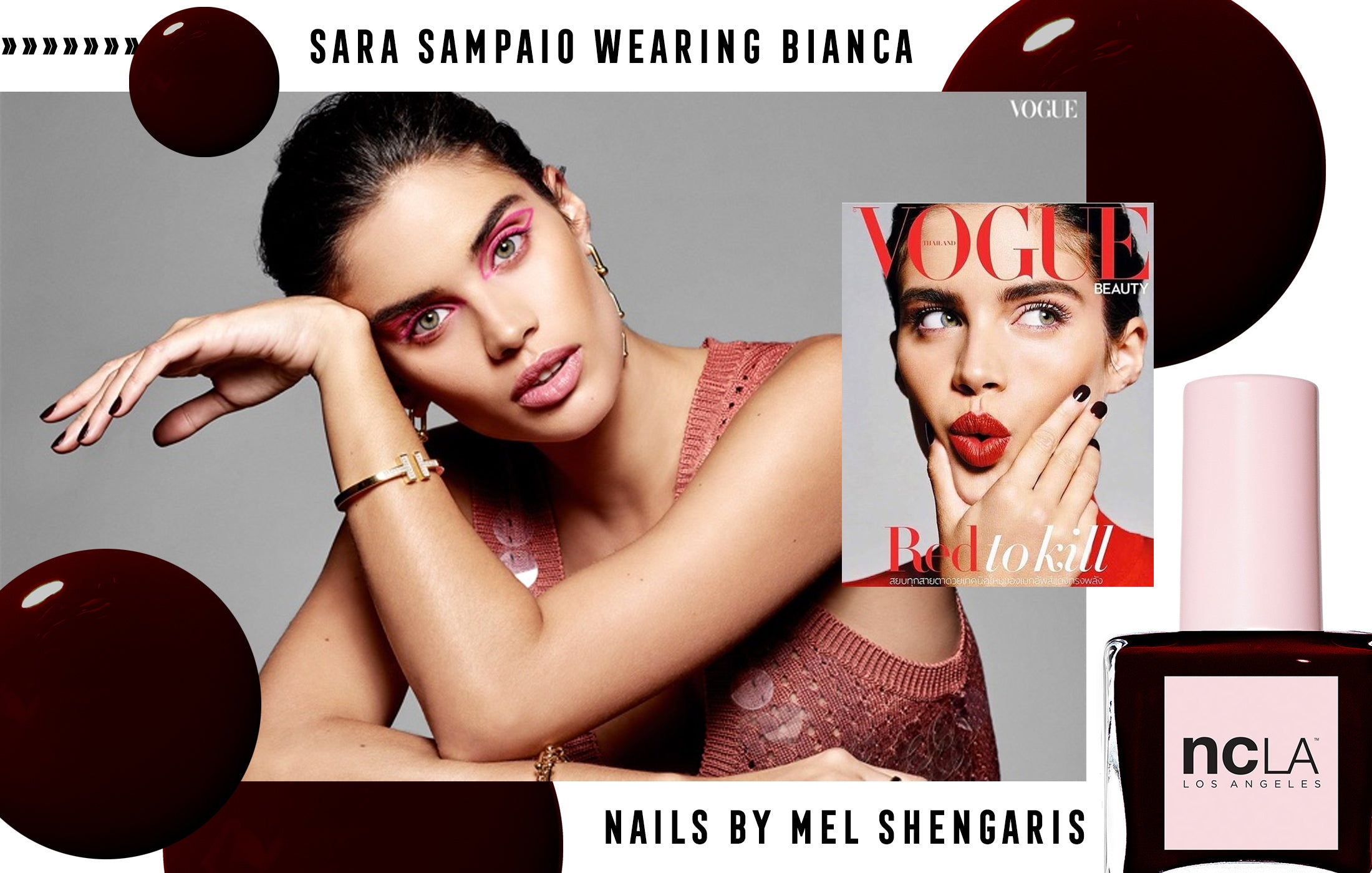Sara Sampaio weaing NCLA on the cover of Vogue Thailand!