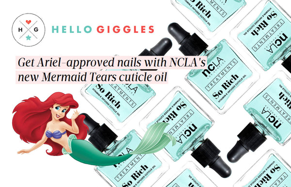 Hello Giggles: Get Ariel-approved nails with NCLA's new Mermaid Tears cuticle oil